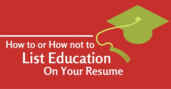 How to or How Not To List Education on Resume? - WiseStep