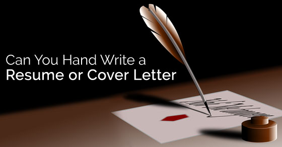 Can you Hand Write a Resume and Cover Letter? - WiseStep - How To Type A Resume Cover Letter
