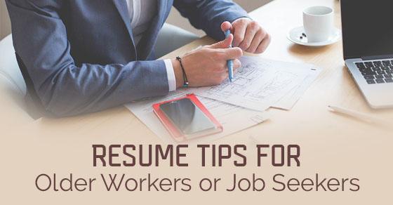 resume tips older workers