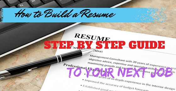 How to Build a Resume Step by Step Guide to your Next Job - WiseStep - how to build resume