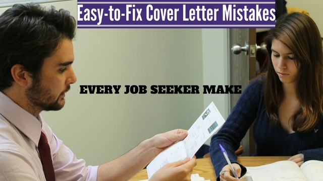 13 Easy-to-Fix Cover Letter Mistakes Every Job Seeker Make - WiseStep