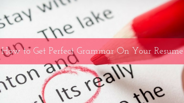 How to Get Perfect Grammar on your Resume 16 Best Tips - WiseStep