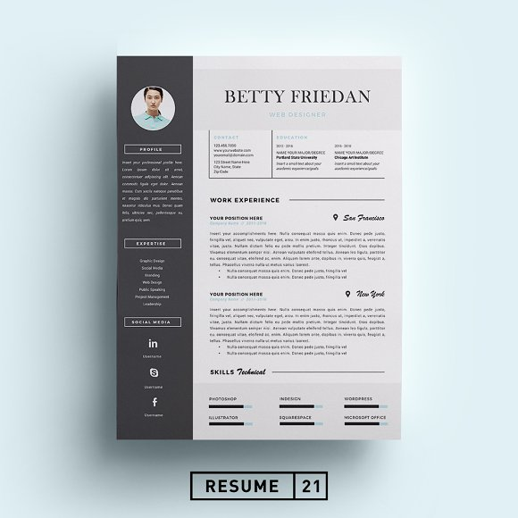 20 Eye-Catching Designer Resume Templates to Get a Job - WiseStep