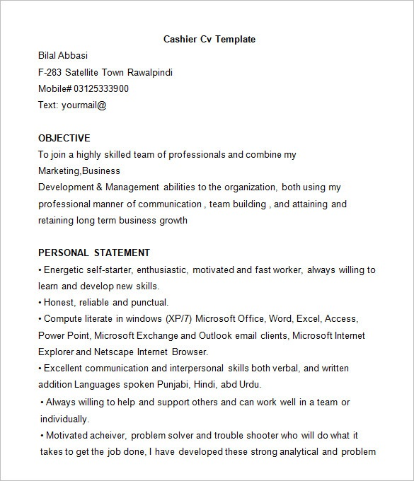 19 Best Cashier Resume Sample Templates - WiseStep
