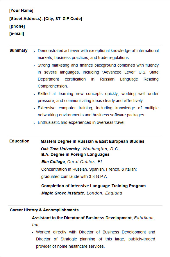 student resumes template - Onwebioinnovate - example of resume format for student