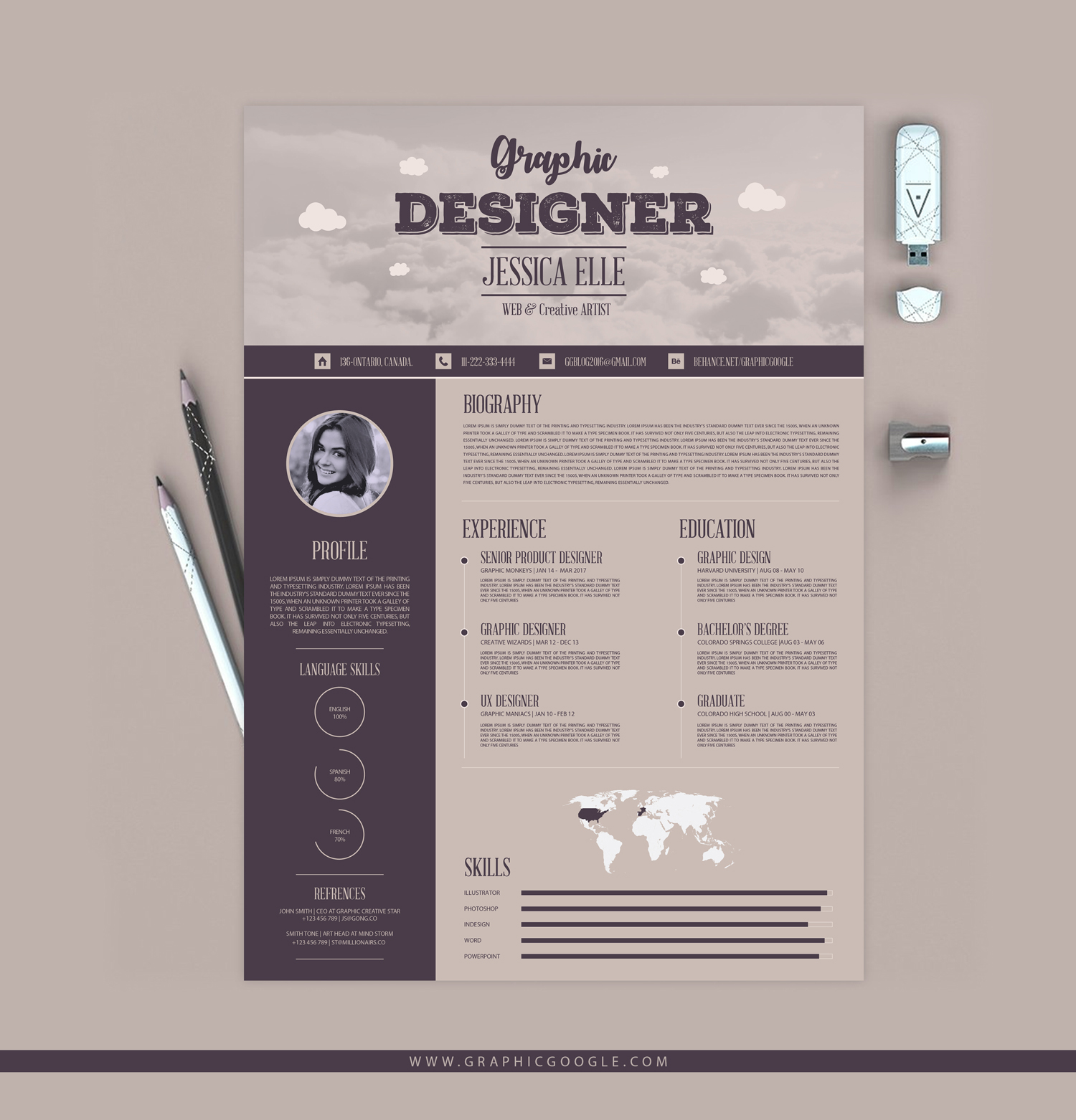 creative cv format free download