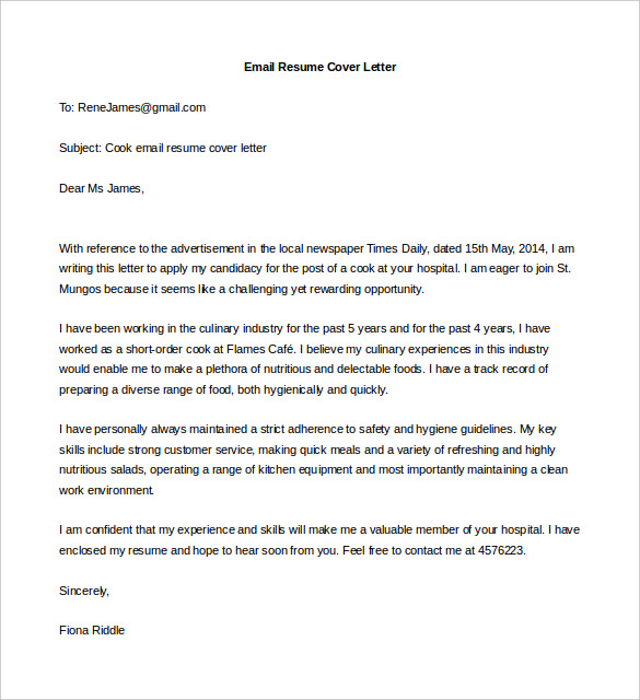 15 Best Sample Cover Letter For Experienced People - WiseStep - email for resume and cover letter