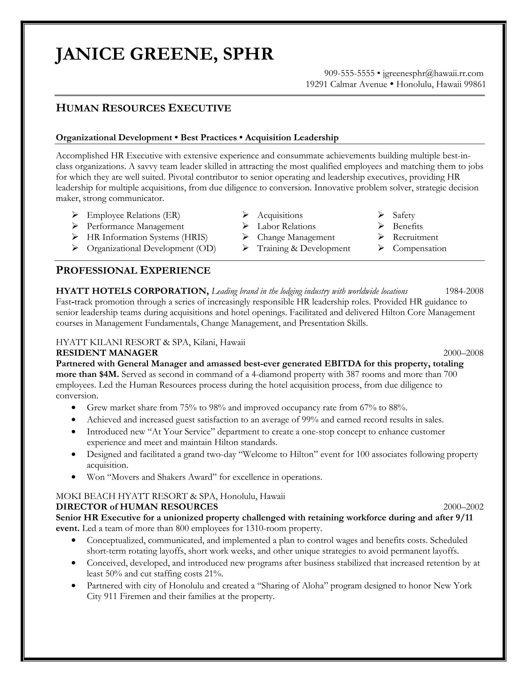 cv templates executive