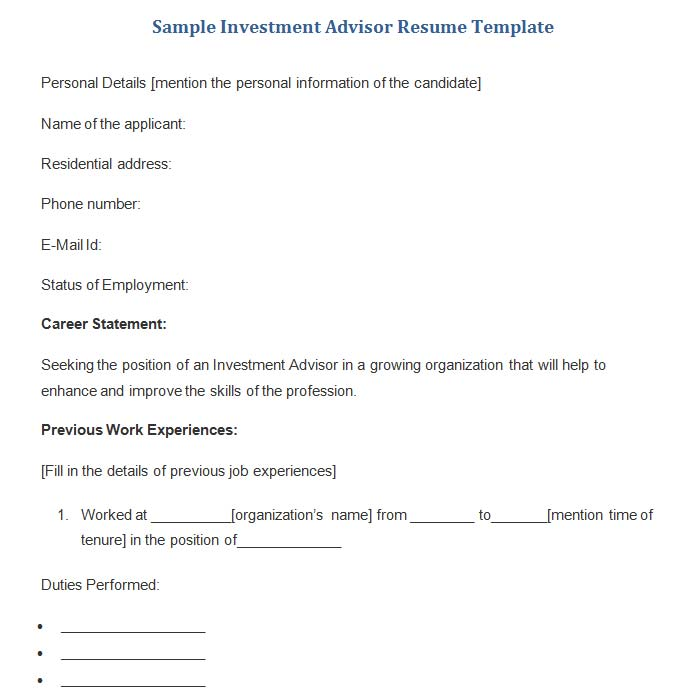 18 Best Banking Sample Resume Templates - WiseStep - fill in resume templates