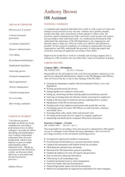 HR Fresher Resume Template todaysclix