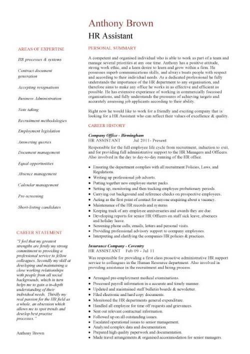 hr coordinator resume templates