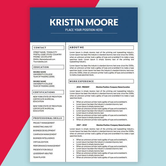 21 Perfect Marketing Resume Templates for Every Job Seeker - WiseStep - marketing resume formats