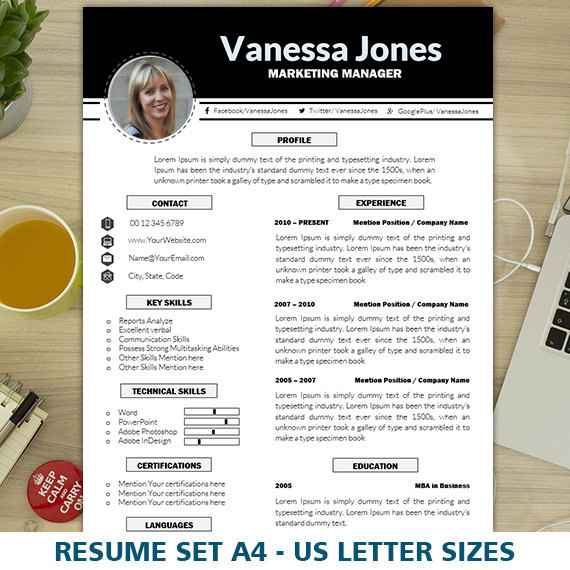 21 Perfect Marketing Resume Templates for Every Job Seeker - WiseStep - resume templates with photo