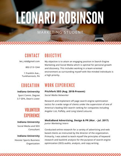21 Perfect Marketing Resume Templates for Every Job Seeker - WiseStep