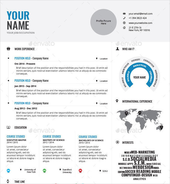 29 Awesome Infographic Resume Templates You Want to Steal - WiseStep