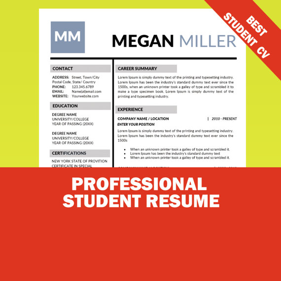 17 Best Internship Resume Templates to Download for Free - WiseStep - good name for resumes