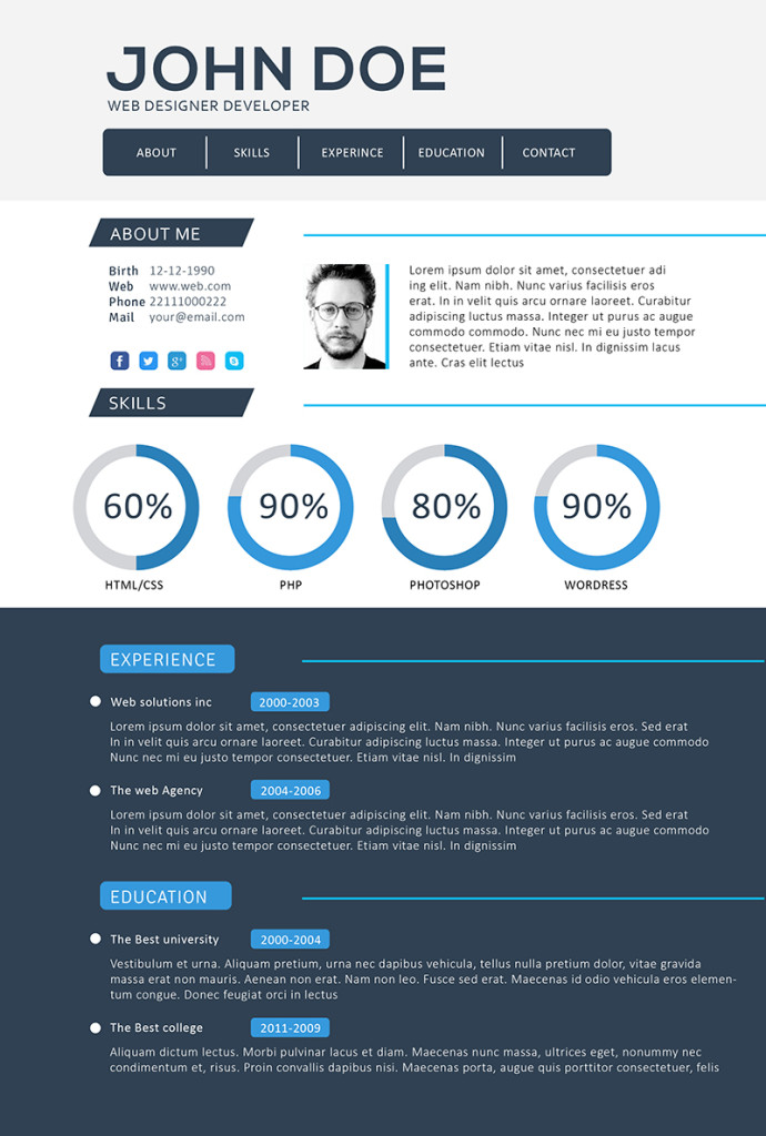 30 Best Developer (Software Engineer) Resume Templates - WiseStep - Web Developer Resume