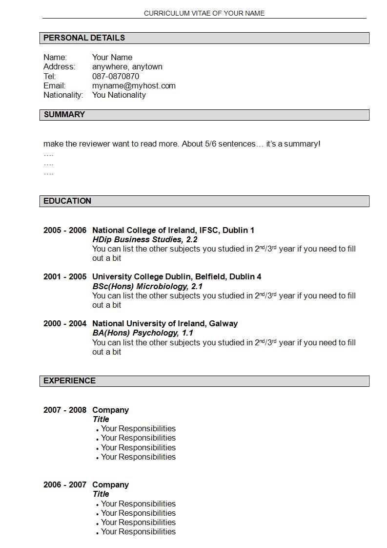 qa resume template download