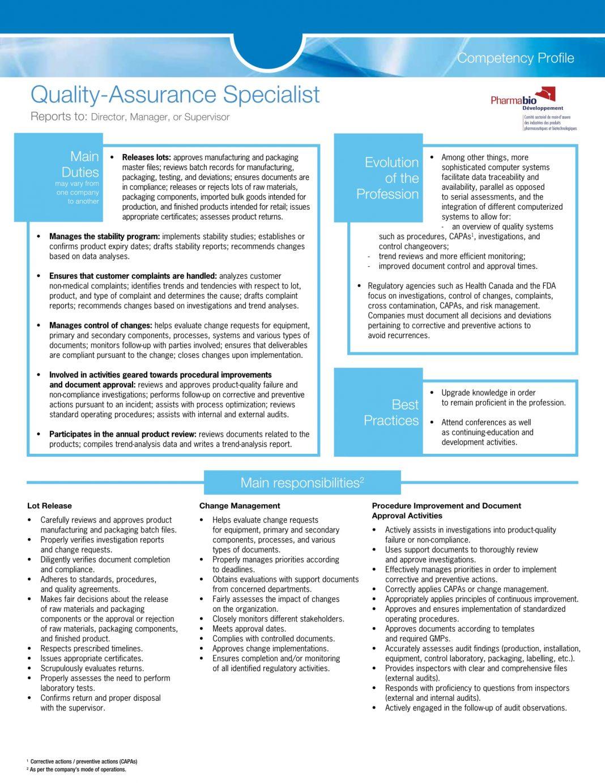 sample resume format for software quality assurance