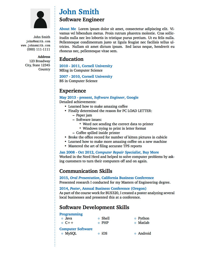 CV in Tabular Form - 18 Tabular Resume Format Templates - WiseStep - resume templates education