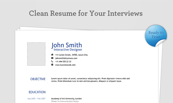 Download 29 Simple, Clean and Minimal Resume Templates - WiseStep - clean resume template