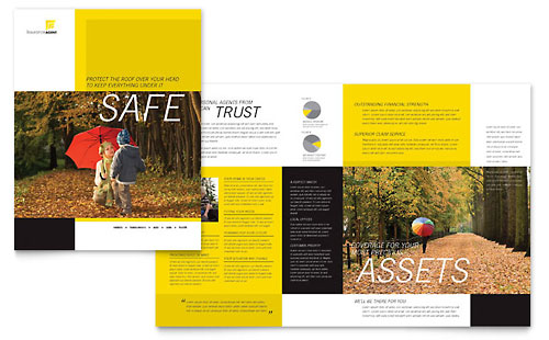 Private Bank Brochure Template Design by StockLayouts Trifold - free pamphlet