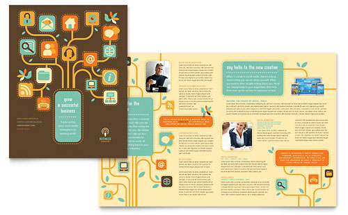 Layout idea - FAQ tree Handbook Ideas Pinterest Brochure - microsoft brochure templates free download