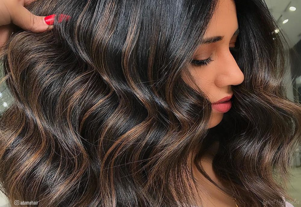 Natural Blonde Highlights On Dark Brown Hair 13 Incredible Balayage Dark Brown Hair Colors To Steal