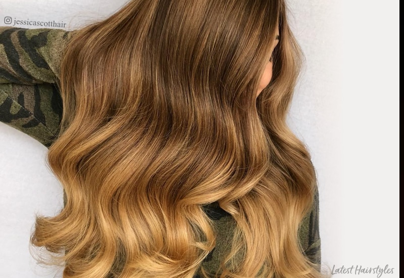 Curly Hair Length Chart 21 Stunning Examples Of Caramel Balayage Highlights For 2020