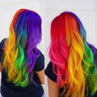 28 Cool Rainbow Hair Color Ideas Trending for 2018!