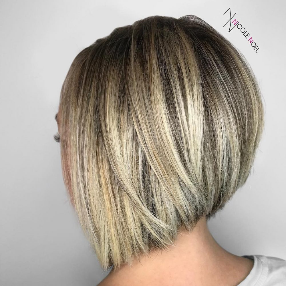 Long Bob Ombre Braun 28 Most Flattering Bob Haircuts For Round Faces In 2019