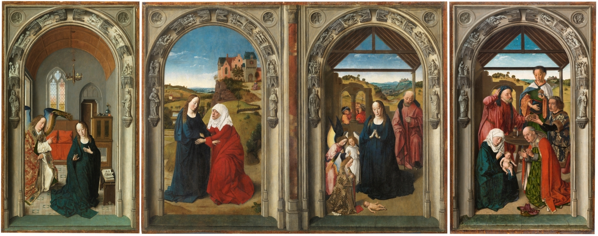 Escuela De Arte Flamenco Zurich Triptych Of The Life Of The Virgin The Collection Museo