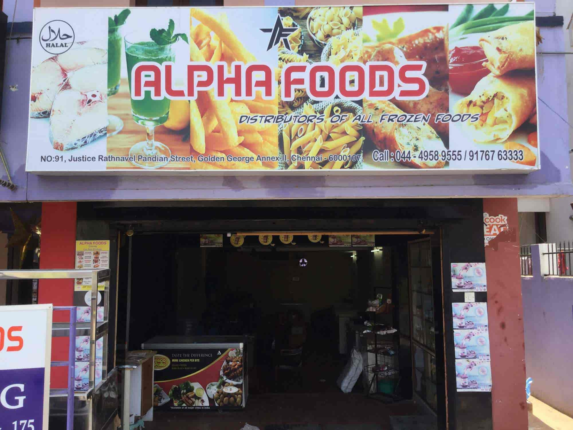 Wholesale Distributors In Chennai Alpha Foods Mogappair East Frozen Food Distributors In