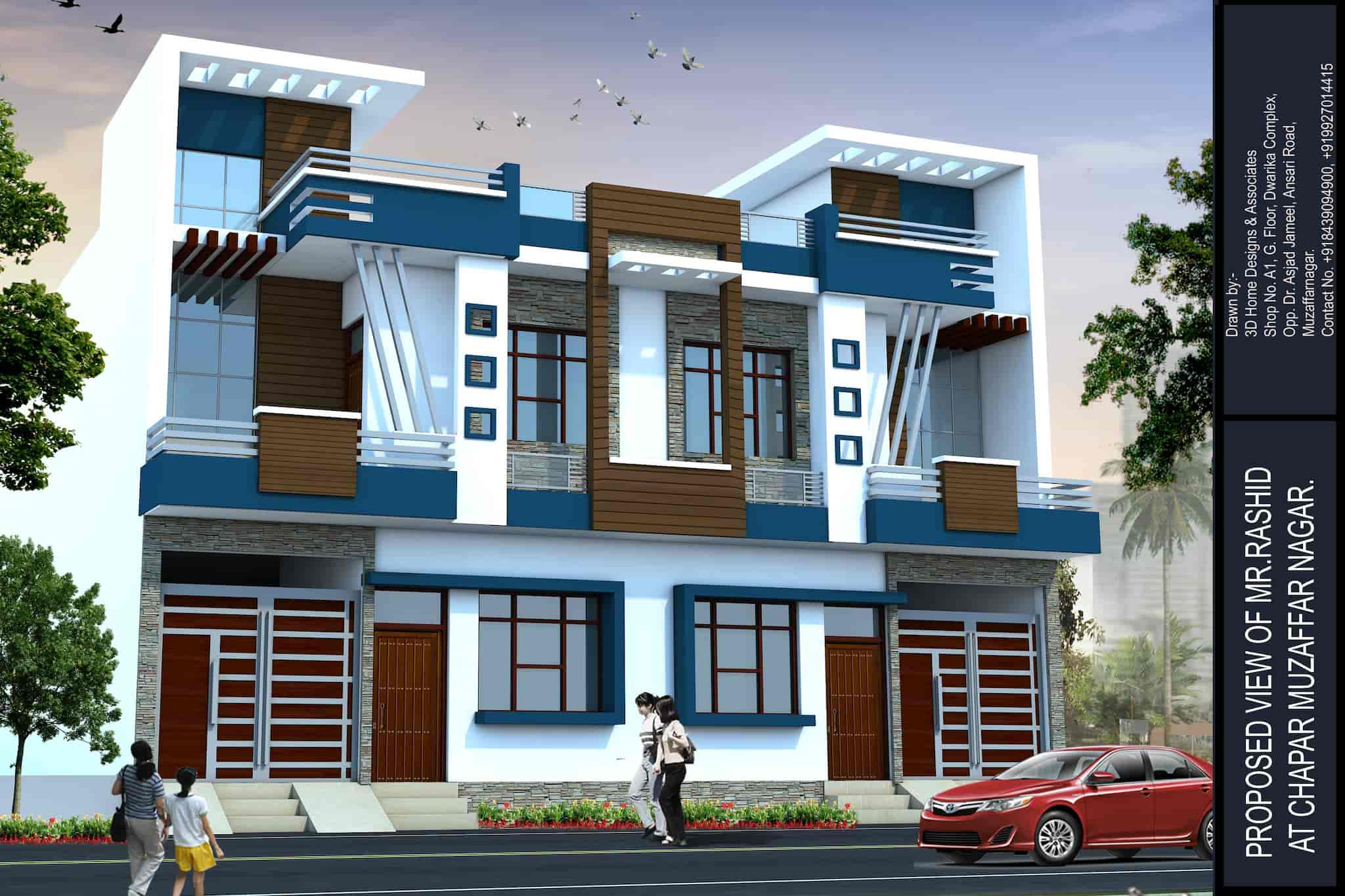 3d Home 3d Home Designs Associates Muzaffar Nagar City Exterior