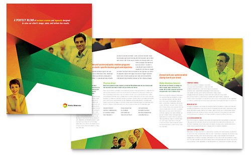 Advertising Company Brochure Template Design by StockLayouts - business pamphlet templates free