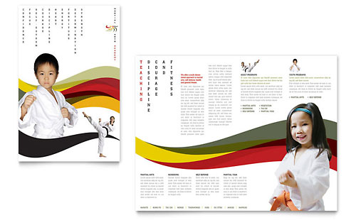 HR Consulting Tri Fold Brochure Design Template by StockLayouts - free leaflet template word