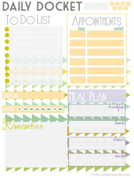 daily organizer template work day organizer planner page work - Akba