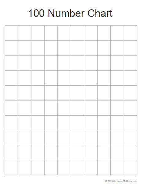 Free Math Printable Blank 100 Number Chart Contented at Home - Free Chart