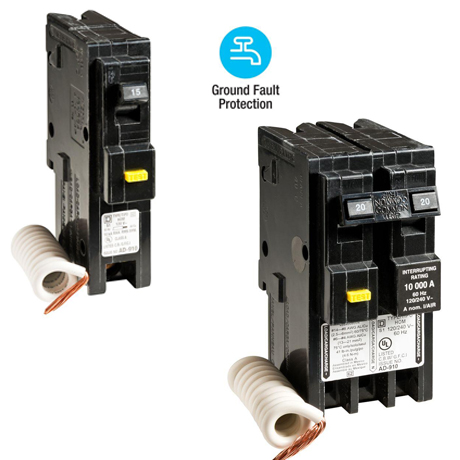 Square D Homeline 30 Amp 2-Pole GFCI Circuit Breaker-HOM230GFI - The