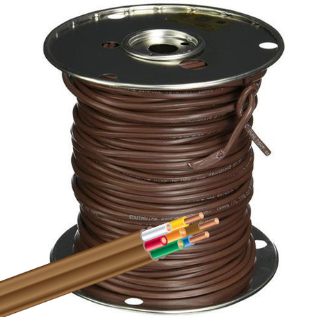 Southwire 500 ft 18/2 Brown Solid CU CL2 Thermostat Wire-64162144