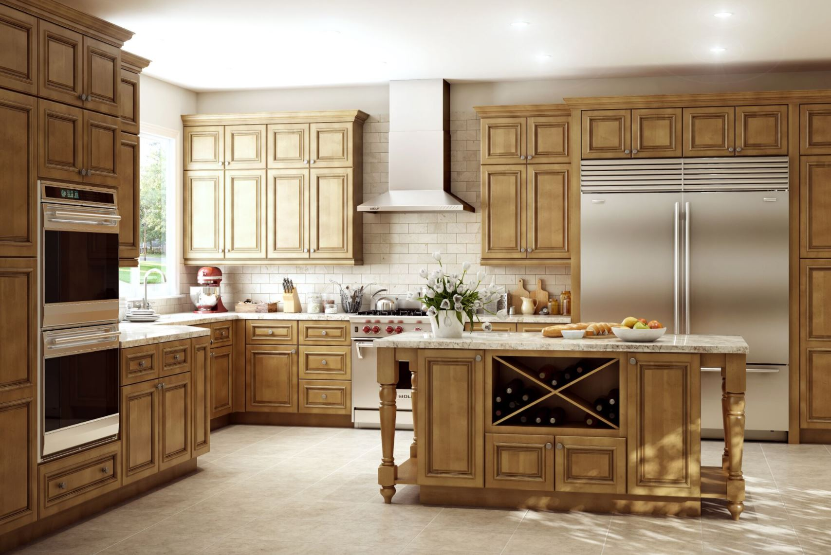 Glaze For Kitchen Cabinets Clevedon Base Cabinets In Toffee Glaze Kitchen The Home Depot
