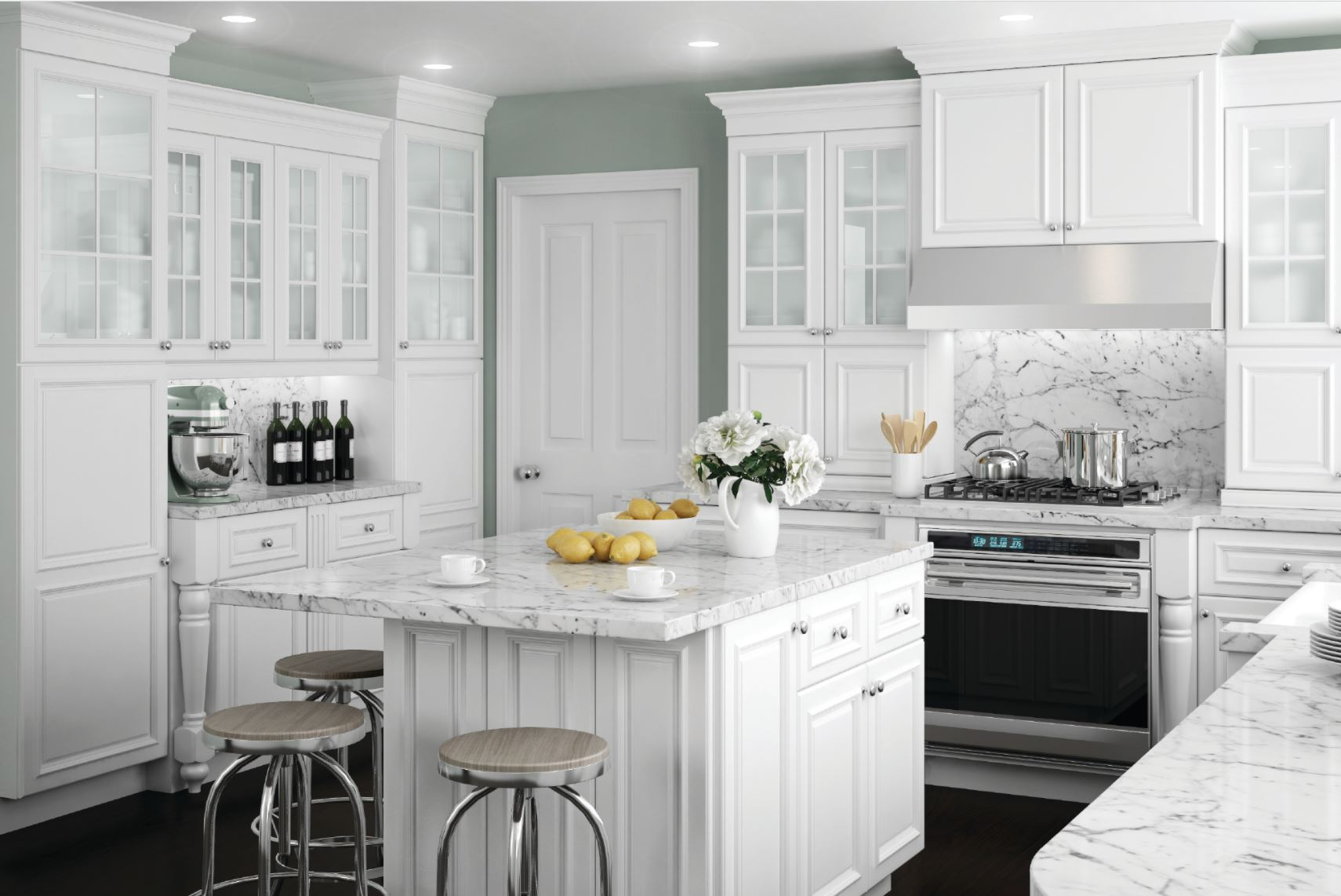 10x10 White Kitchen Cabinets Coventry Cabinet Accessories In Pacific White Kitchen