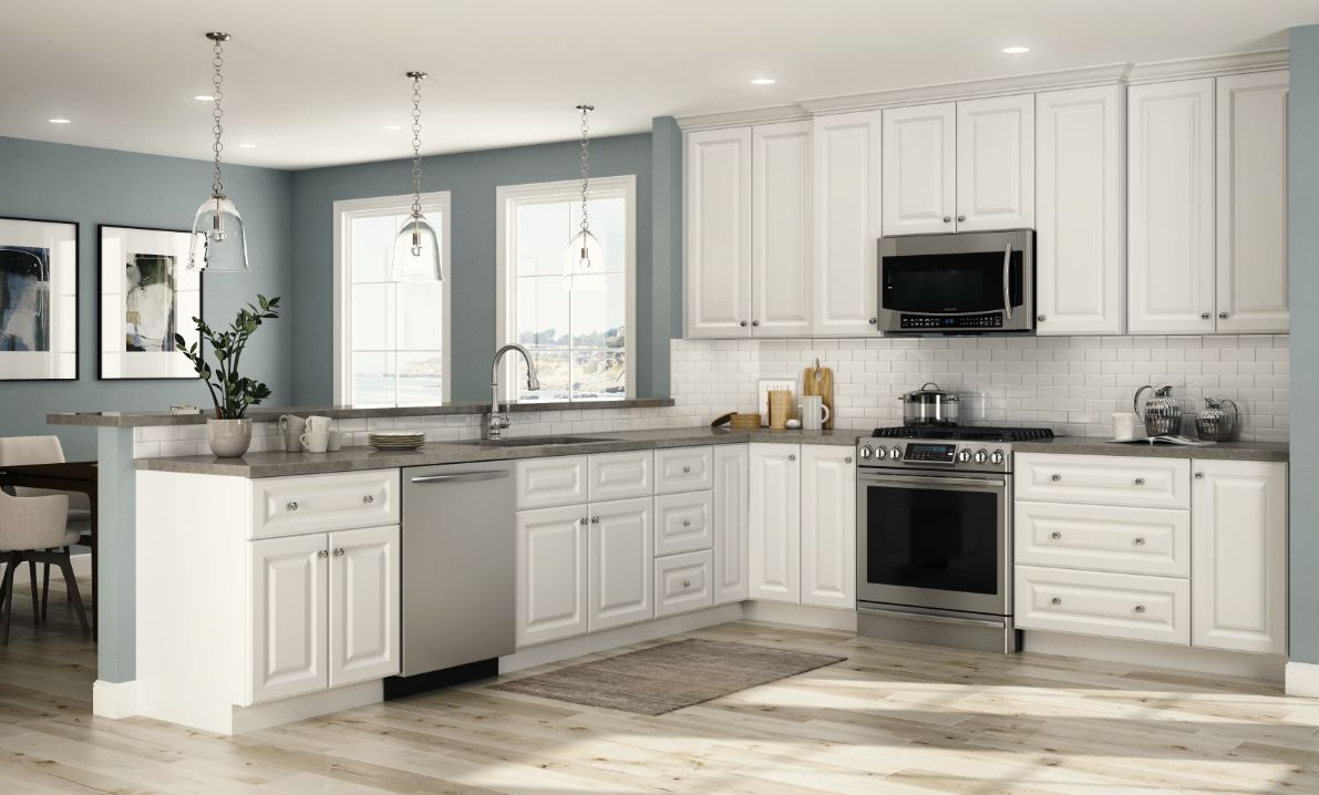 Photos Of White Kitchen Cabinets Hallmark Base Cabinets In Arctic White Outdoors The Home Depot