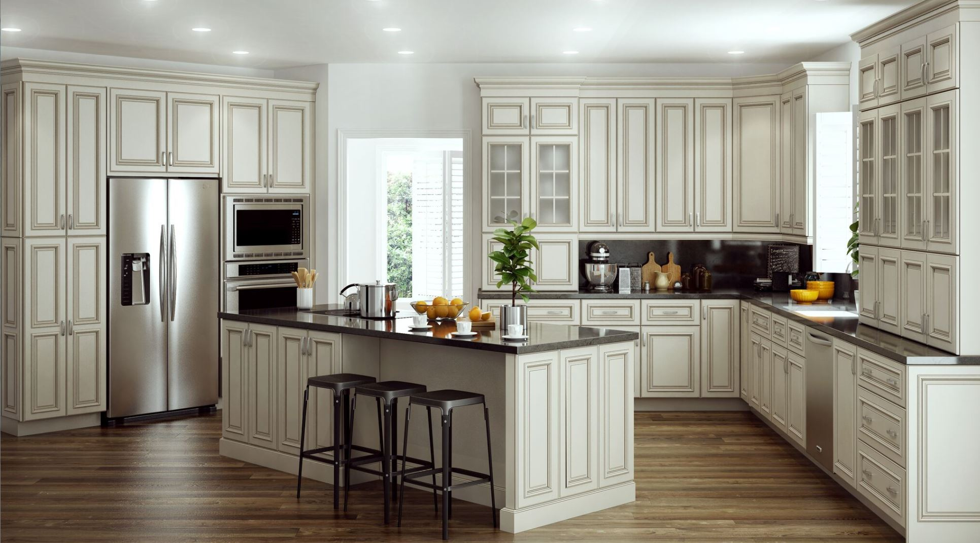 Glaze For Kitchen Cabinets Holden Base Cabinets In Bronze Glaze Kitchen The Home Depot