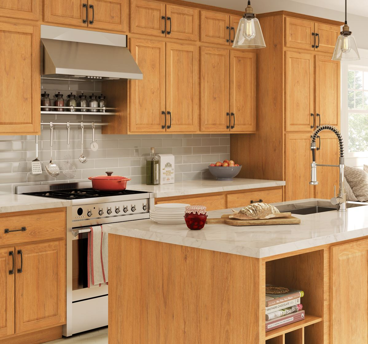 Used Oak Kitchen Cabinets Madison Base Cabinets In Medium Oak Kitchen The Home Depot