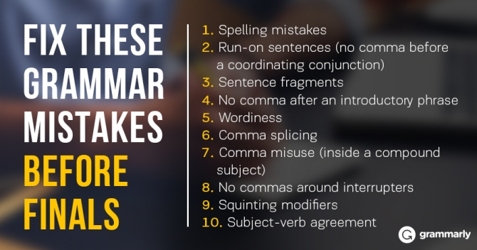 Top 10 Student Writing Mistakes Finals Edition