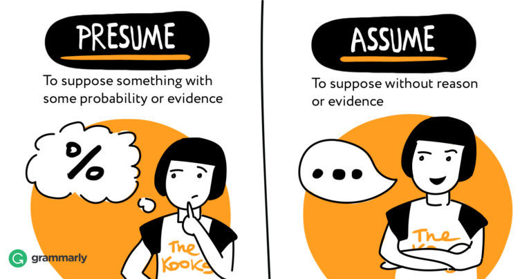 Presume vs Assume Grammarly Blog