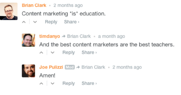CMI reader comments
