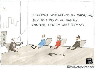 cartoon, word-of-mouth marketing