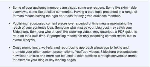 content formats-text